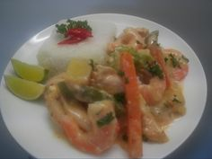Red Chicken and Prawn Curry