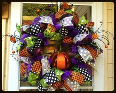 A personal favorite from my Etsy shop https://www.etsy.com/listing/244613529/whimsical-halloween-wreath-pumpkin-tea