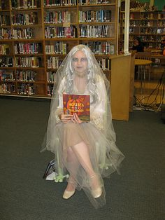 library ghost = one super cool librarian doing a bang up job!