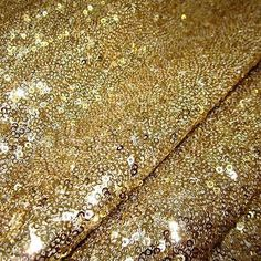 Stoff Meterware Pailletten gold edel genäht Burda Glitzer Glanz Kissen Neu