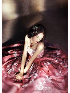Hanbok pink Korean fashion