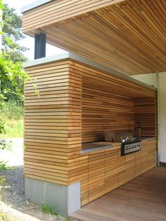 Outdoor kitchen design ideas / bar - Find and save ideas about Outdoor kitchen Ideas on karyadia.com | See more ideas about Outdoor kitchen layout , Outdoor Kitchen Floor Plans and How to Build Modern Outdoor Kitchen #outdoorkitchens