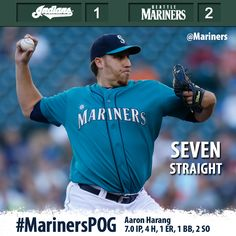 Morales, Zunino homer, Harang solid as #Mariners run streak to seven with 2-1 win over Indians 7/22/13