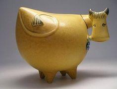 Danish Modern Lisa Larson Gustavberg Art Pottery Cow