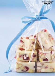 Mix in a little white Christmas magic to your menu and make a batch of White Chocolate Fudge. Cranberries and orange zest add unexpected flavor to this tasty white chocolate fudge. Fudge Recipes, Candy Recipes, Sweet Recipes, Dessert Recipes, Christmas Desserts, Christmas Baking, Christmas Candy, Christmas Recipes, Christmas Ideas