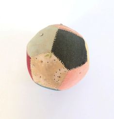 Small Ball Patchwork pin Cushion c1860