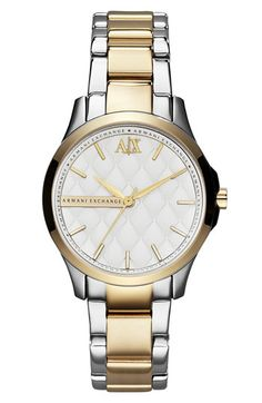 AX Armani Exchange Quilted Dial Bracelet Watch, 36mm (Online Only) available at #Nordstrom