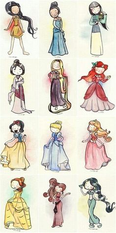 disney princesses, except that MULAN isn't even a princess Disney Pixar, Film Disney, Disney And Dreamworks, Disney Magic, Disney Art, Disney Movies, Disney Characters, Chibi Disney, Disney Dream