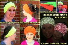 If you love to exercise outdoors, you might want to take a second to work up your own Runner's Reflective Headband. The reflective yarn is just want you need when walking, running, or biking outside so that cars can see you no matter what time of day
