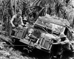 """historicaltimes: """"The first trans-Darién expedition by car in 1959 Keep reading """""""