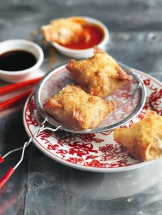 crispy crab and ginger dumplings