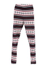 Red ZigZag Stripe Printed Leggings