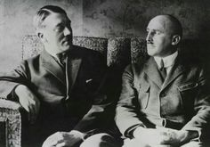 Jaw droppingly RARE photo of Adolf Hitler with Julius Streicher. This is VERY early, probably Note the part in Hitler's hair, which indicates it's from this period, or possibly even though Hitler was much thinner in putschgirl) World History, World War Ii, Julius Streicher, Football Music, Nuremberg Trials, The Third Reich, Rare Photos, Rare Pictures, Historical Photos