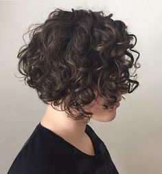 65 Different Versions of Curly Bob Hairstyle Short Curly Brunette Bob Haircuts For Curly Hair, Short Wavy Hair, Curly Hair Cuts, Curly Hair Styles, Wavy Hairstyles, Undercut Hairstyle, Short Curls, Wavy Bobs, Long Pixie
