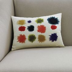 Water Splash Pillow Cover | west elm  From westelm.com · Originally posted by cannonfire