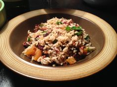 DIY Thursdays: Red Pepper Soup and more! Brown Rice Pilaf, Red Pepper Soup, Dried Fruit, Pecans, Red Peppers, Thursday, Delish, Brunch, Dinner