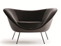 Upholstered armchair with armrests D.154.2 | Armchair - MOLTENI & C.