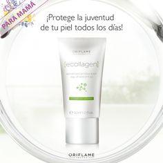 ¡2 en 1! Protege la #piel de tu rostro contra los #RayosUV y al mismo tiempo rellena las arrugas desde el interior. #Juventud #Cuidado #Ecollagen #Protección #OriflameMx