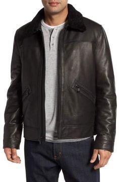 0ffe5223479 Andrew Marc Kilmer Genuine Shearling Bomber Jacket