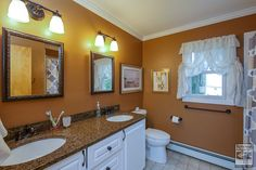 Delightful bathroom in this lovely home in St. James where we recently installed new windows...   Home Remodeling / Bathroom Renovation / Home Improvement / Replacement window - double hung - from Renewal by Andersen Long Island