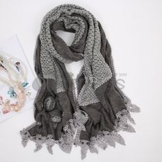 Ladies Long Hair line of scarves in autumn and winter.