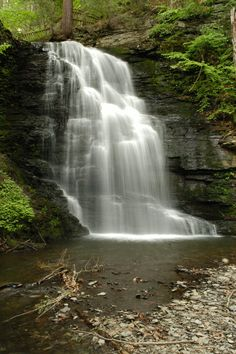 Bushkill Falls in Pennsylvania's Poconos Mountains has gorgeous scenery and hiking trails...
