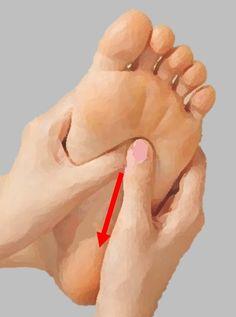リフレクソロジー 親指スライド刺激法 親指の腹をスライドさせて刺激します。