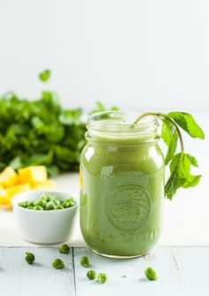 Green Garbanzo Mint Smoothie