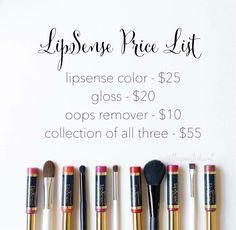 Look out for a #demo video tomorrow on how to apply Lipsense!   Here's the price list for it. I know for some a collection might seem a bit pricey, but I promise it's worth it. I've spent far more on #lipsticks that I never use because they don't stay on or dry out my #lips. LipSense does neither of those things so I totally feel like I get my money's worth!  You'll only apply this color once a day & there is an equivalent of FOUR lipsticks to each tube of LipSense color.