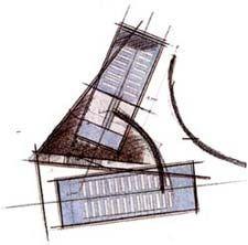 Church of Light - Tadao Ando - Sketch