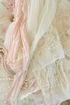 Gorgeous Pair of Vintage Lace and Silk Scarves by Jenneliserose