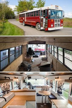 30 Of The Most Epic Bus And Van Conversions Complete with ovens, closets, beds, and fold-out desks these converted mobile dwellings may inspire you to Marie Kondo your life and take a journey of your own. School Bus Tiny House, School Bus Rv, Fold Out Desk, Bus Remodel, Converted School Bus, Kombi Home, Bus Living, School Bus Conversion, Van Home