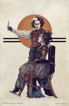 Sweeney Todd -rockwell style- Mark Dos Santos