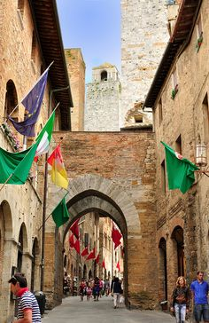 best best ever!!! too little time spent there. San Gimignano, Italy