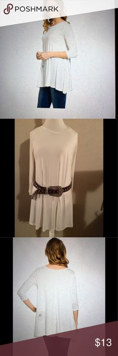 NWT Frumos Ivory Tunic Long , comfy Ivory Tunic looks great with leggings or belt it up with pants. Frumos Tops Tunics