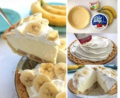 This Easy Banana Cream Pie is one of my favorite quick and easy desserts. Since we use a store-bought crust and instant banana pudding, it can be made in a jiffy. Banana Pie Recipe, Easy Banana Cream Pie, Banana Recipes, Pie Recipes, Party Recipes, Dessert Dips, No Bake Desserts, Easy Desserts, Dessert Recipes