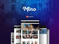 Mino is a blog template which focus on clean design and readability. This package contains 7 different templates. The layers in the psd are well named and organised in folders. This freebie will allow you to create a complete website. The author of this resource is MbojoWae.