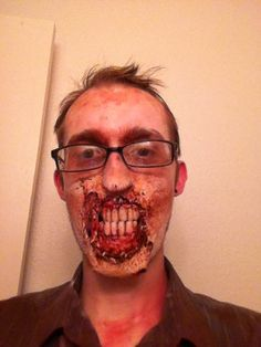 DIY Zombie dentures. Gonna do this for sure.