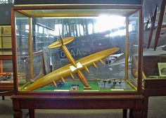 """Wind tunnelmodel of the Victory Bomber at theBrooklands Museum  TheBritish""""Victory Bomber""""was aSecond World Wardesign byBarnes WallisatVickers-ArmstrongsatBrooklandsfor abomberto carry his projected 22,000lb (10,000kg) """"earthquake bomb"""" to strategic targets inGermany."""