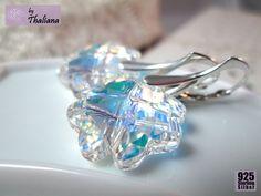 Kleeblatt Ohrringe **GLÜCKSKLEE*** Ohrringe Echt Silber von Thaliana - Funkeln in allen Facetten! auf DaWanda.com