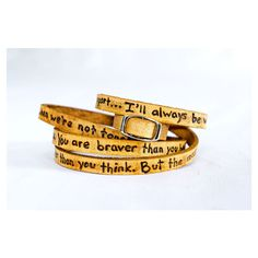 To My Lovelies, Winnie the Pooh Quote on Ultra Long Leather Wrap... ❤