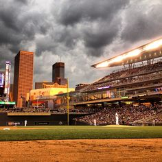 The view from the 3rd base photo well in the sixth inning at Target Field vs. the Phillies on 6/14/12.