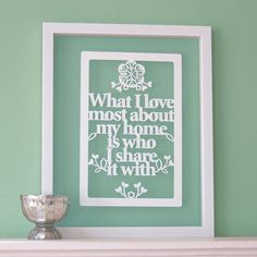 What I love most about my home is who I share it with por antdesign, £25.00