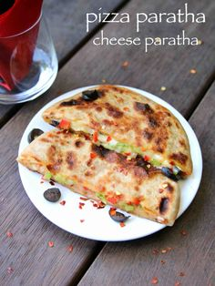 pizza paratha recipe, cheese paratha recipe, cheese stuffed paratha with step by step photo/video. interesting fusion recipe with veg pizza recipe & paratha Veg Pizza Recipe, Pizza Recipes, Gourmet Recipes, Vegetarian Recipes, Snack Recipes, Cooking Recipes, Breakfast Recipes, Dinner Recipes, Dessert Recipes