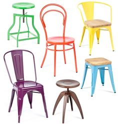 Industry West: Colorful (and Totally Affordable!) Metal Dining Chairs and Stools — Store Profile #IndustrialChair