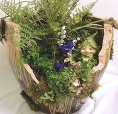 Broken Pot? No problem! Create a secret garden fit for your favorite garden gnomes...