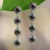 Garnet dangle earrings, 'Orion Light' from @NOVICA, They help #artisans succeed worldwide.