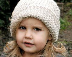 Knitting PATTERN-The Rivine Cloche' Toddler by Thevelvetacorn