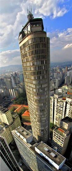 Building Italia, inagurated in 1965, the tallest building in Sao Paulo,  BRAZIL