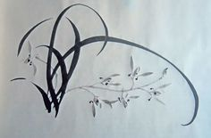 How to paint a simple orchid in Chinese ink